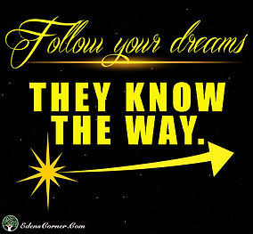 Stars and space with quote: Follow your dreams. They know the way.