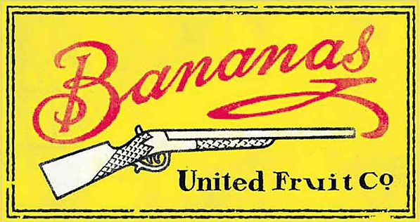 Poster, Bananas, United Fruit Co. with a gun.
