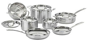 Pots and pans made by Cuisinart