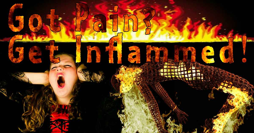 Flames and Screaming, Got Pain- Get Inflammed!