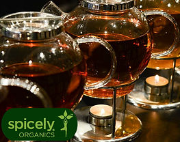 Spicely Organics Image of tea simmering over a candle