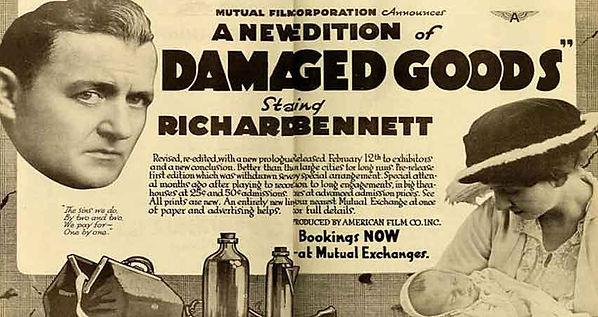 Flyer advertising Damaged goods.