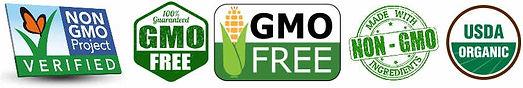 Organic and non gmo logos.