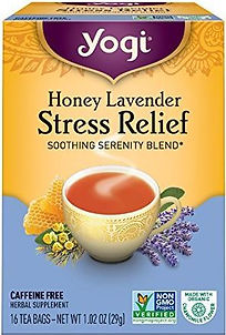 Yogi Honey Lavender Stress Relief Tea.