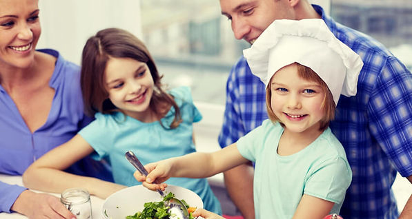 Family cooking together. 3 Tips to Better Understand the Child.