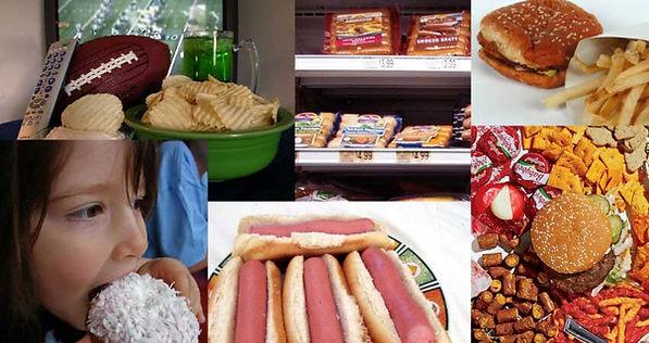 Assortment of junk food.