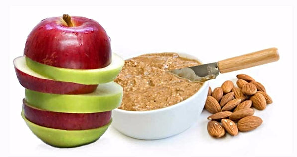 Sliced apple with Almond Butter