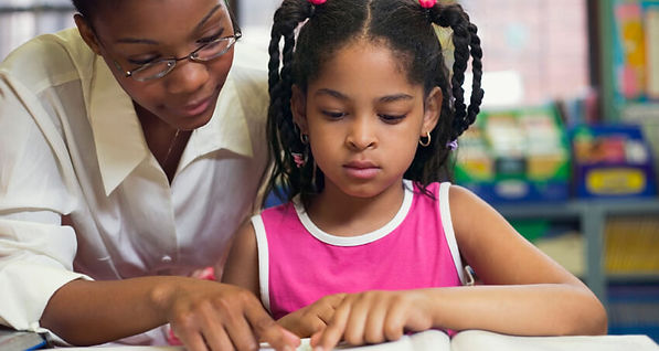 Teacher and Child. Teach and Learn with teacher.