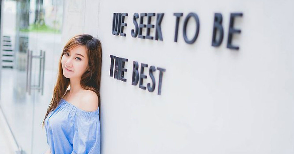 "Girl standing next to the words ""We Seek To Be The Best"" You are your best investment"