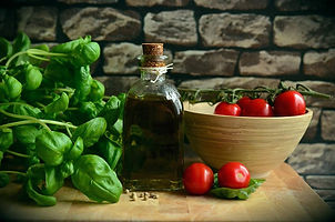 Basil Extra Virgin Oil and Tomatoe