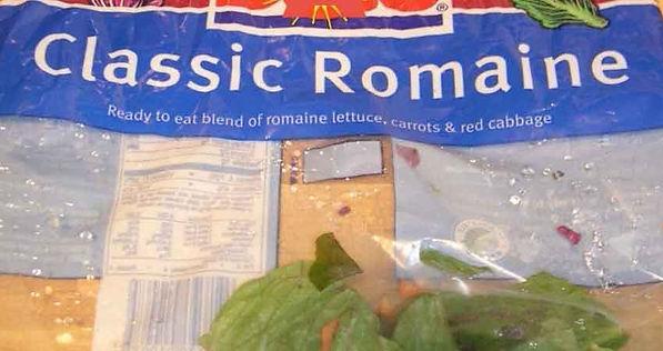 A bag of classic romaine, the kill.