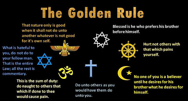 Religious philosophies of the Golden rule.
