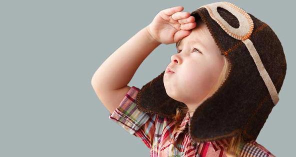 Fringe Dweller Child, the dreamer, gazing into the sky.