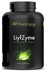 LiyfZyme - plant-based digestive enzymes, offered at Eden's Corner and sold by Amazon.