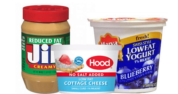 Processed foods low fat foods.