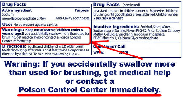 Back of Box Warnings. Is Toothpaste Harming Your Child.