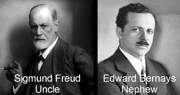 Sigmund Freud and Edward Bernays photos. Uncle and Nephew