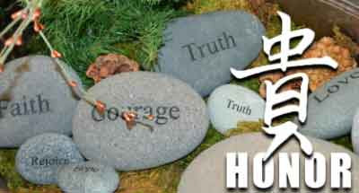 Faith, Courage, Honor and Truth at Eden's Corner