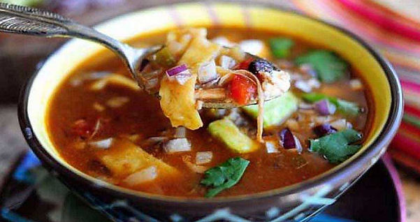 A Bowl of Fajita Soup