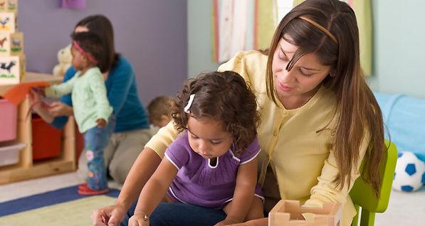 Little girl and teacher. The Most Precious Gem in the World teach