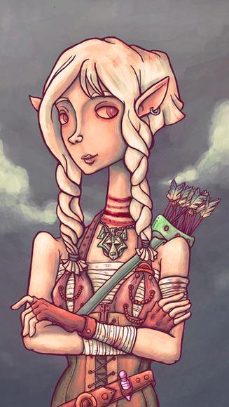 Achera the Elf Druid (Charactrer Design)