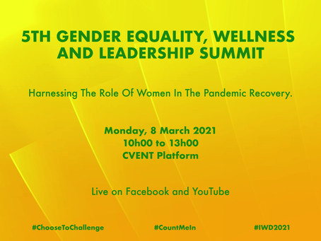 The Motsepe Foundation invites you to the 5th Gender Equality, Wellness and Leadership Summit