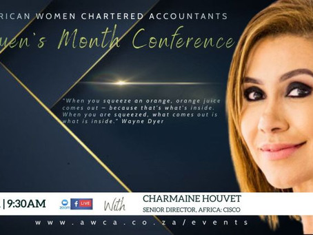 Join Our Deputy Chairperson Charmaine Houvet at the AWCA Women's Month Conference