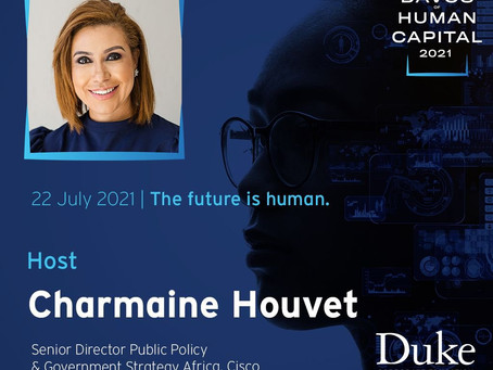 ICYMI: Watch our Deputy Chair Charmaine Houvet Host at The Davos of Human Capital 2021