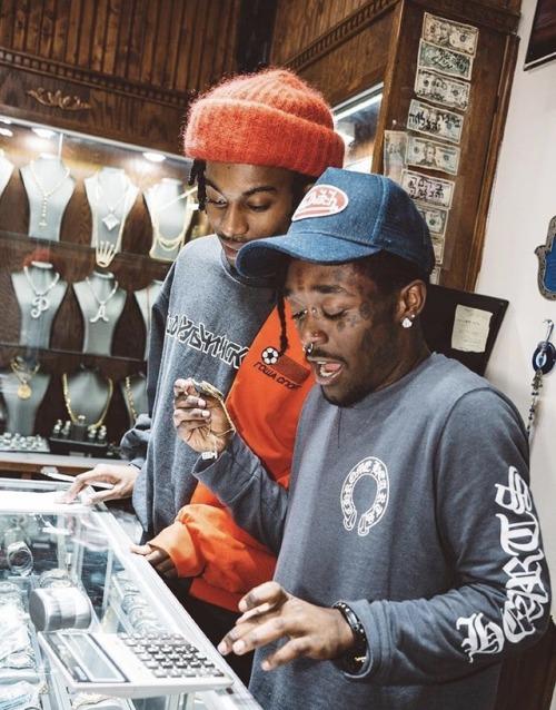 Lil Uzi Vert and Playboi Carti at the jewelry store