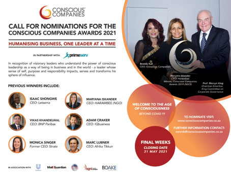 AMCHAM | Call for nominations for the Conscious Companies Awards 2021