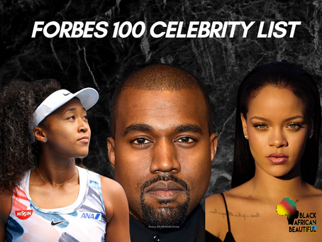 FORBES Celebrity 100 List: Kanye is 2nd Most Paid of 2020