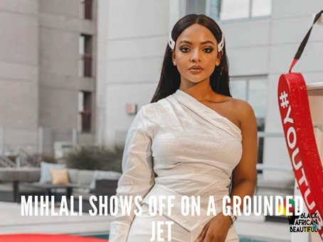 Mihlali Shows Off on a Grounded Jet