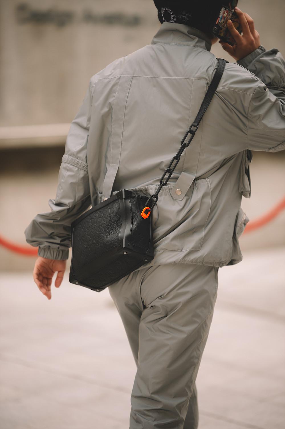 Louis Vuitton bag by Menswear Director Virgil Abloh