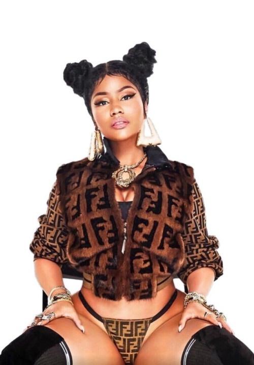 Minaj draped in Fendi for Chun Li cover art