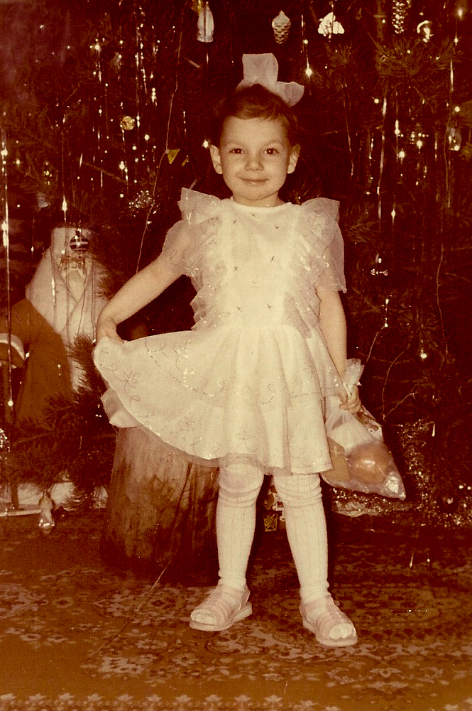 Anna Pivovarchik, 1995-1996, קזחסטאן. אני מצולמת בתמונה, זוכרת שלפני שצילמו אותי ביקשו ממני לחייך כד