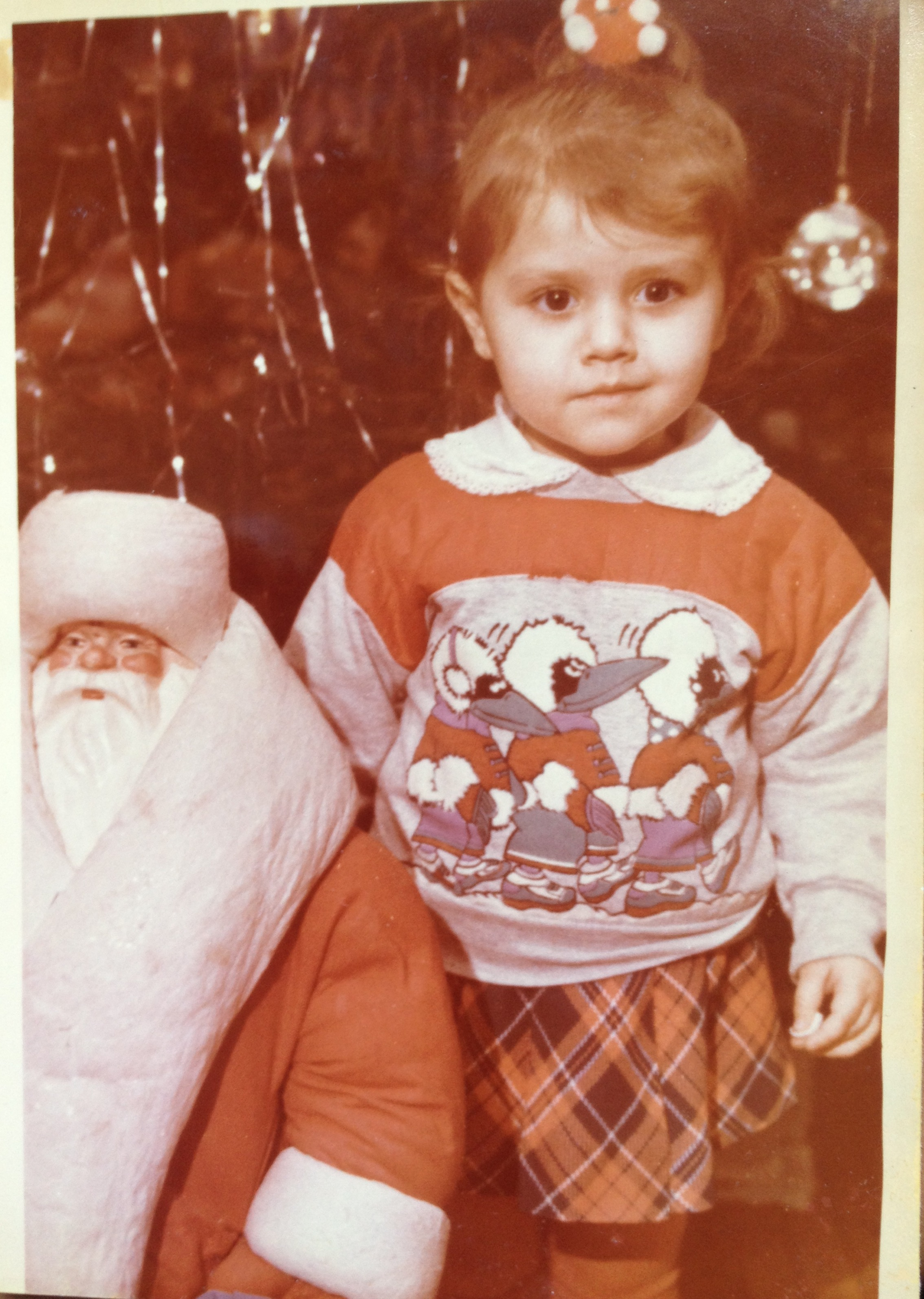 Masha Steinberg, 1993, מינסק. אני בחגיגות נובי גוד בגן.