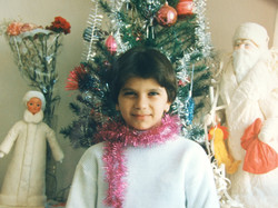 אלקס ריף, בחגיגות הנובי גוד בנתניה, בגיל תשע או עשר