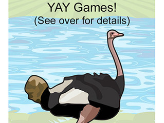 Find the LUCKY OSTRICH and win £50 of YAY Games.