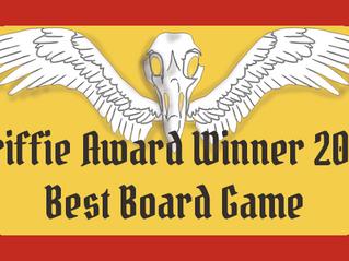 Winning the Griffie Award.