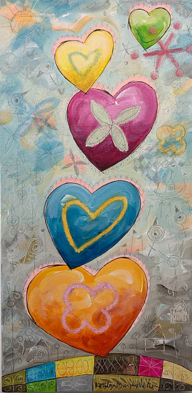 """""""Heart Stack""""       20 x 10"""