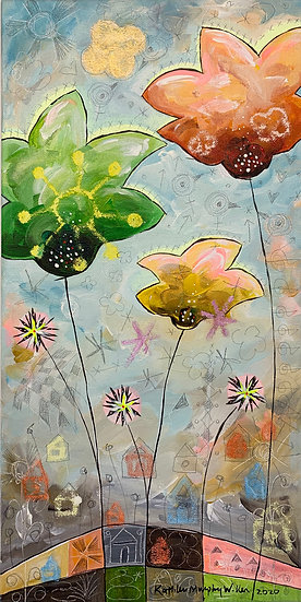 """Star Flowers A""       20 x 10"