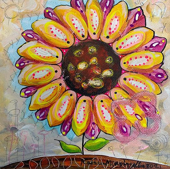 """""""Sunflower B""""  6 x 6"""
