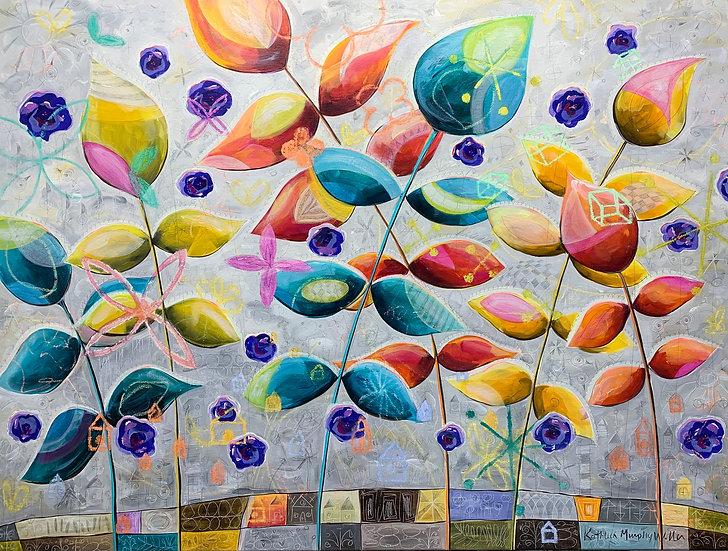 """Bright Leaves""  36 x 48"
