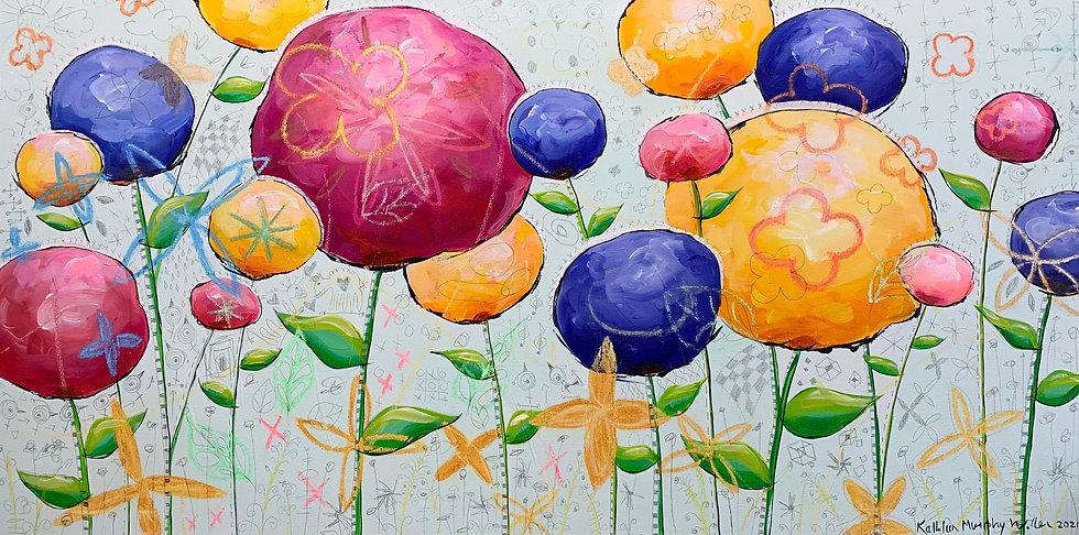 """""""Big Flowers"""" 24x48"""