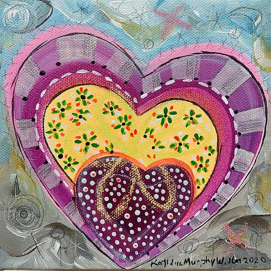 """Heart A"" 6 x 6"