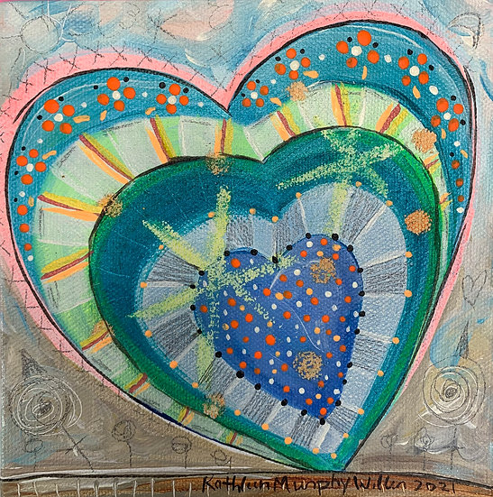 """""""Heart E""""   6 x 6"""