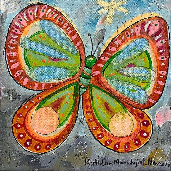"""Butterfly A"" 6 x 6"