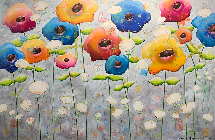 """Flowers (With Beginning Flowers)""     48"" x 72"""
