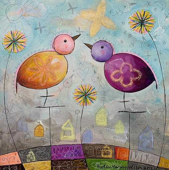 """Bird Bird C""       12 x 12"