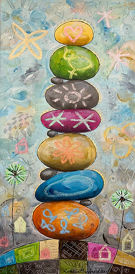 """""""Rock Stack A""""       20 x 10"""